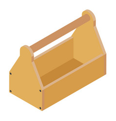 old empty carpenter wooden toolbox isolated on vector image