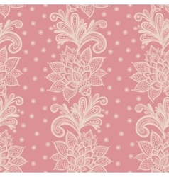Old white elegant doily on lace pink background vector