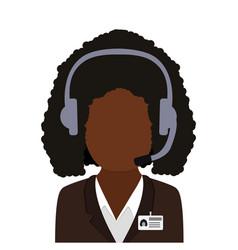 operator consultant woman icon design vector image