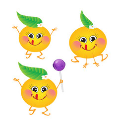 Orange character on a white background vector