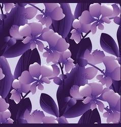 Orchid flowering gradient seamless pattern vector