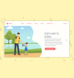 Parenting forum landing page template vector