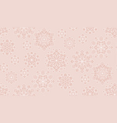 pastel rosy christmas frost flower pattern vector image