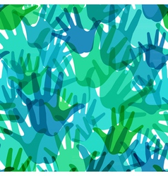 pattern of the palms vector image