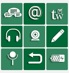 phone interface theme icons set vector image