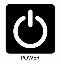 power symbol vector image