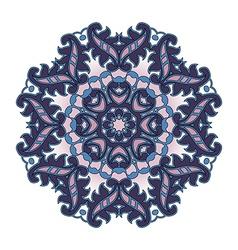 purple circular pattern vector image
