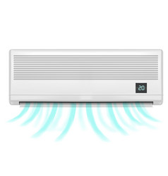 Realistic detailed air conditioner vector