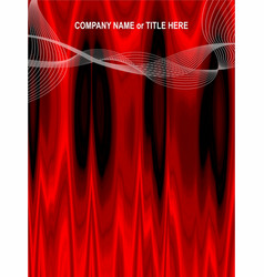 Red curtain abstract background vector