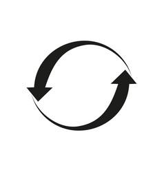 refresh data icon vector image