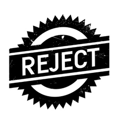 Reject stamp rubber grunge vector image