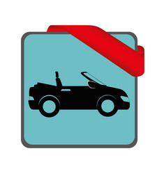 Rent a car service icon vector