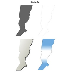 Santa fe blank outline map set vector