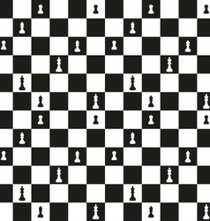 Seamless pattern with chessboard vector image