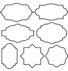 Set of blank vintage frame badges and labels vector image vector image