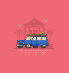 summer auto travel concept vector image