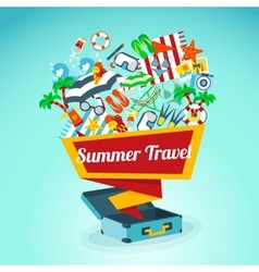 Summer travel concept poster vector