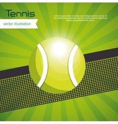 tennis ball green background design vector image vector image