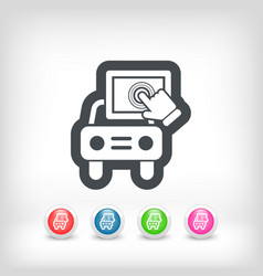 touchscreen car device vector image