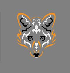 Tribal fox vector