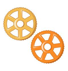 wheel pasta icon cartoon style vector image