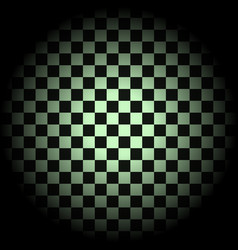 white and black checkered background in circle vector image