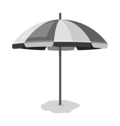 Yelow-green beach umbrella icon in monochrome vector