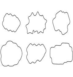 Cloud linear set vector image
