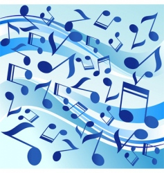 dancing notes vector image
