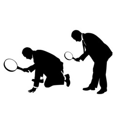 men with magnifying glass vector image vector image