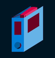 Flat icon on stylish background folder for vector