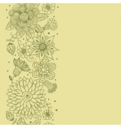 floral seamless patter vector image vector image