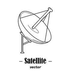 logotype for satelite vector image vector image