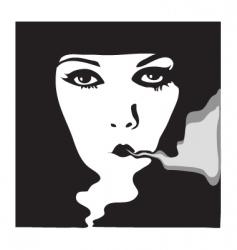 woman portrait 1900 vector image vector image