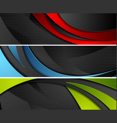 bright abstract corporate wavy banners vector image