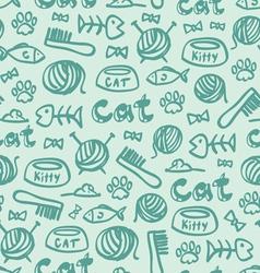 Cat stuff pattern vector