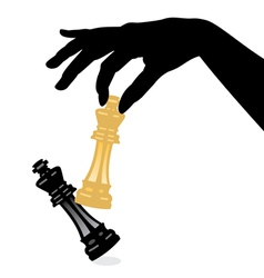 chess game and defeating the king vector image