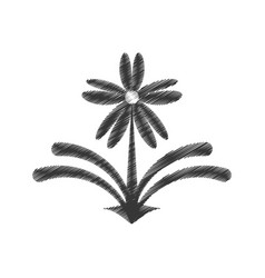 drawing flower decorate ornate style vector image