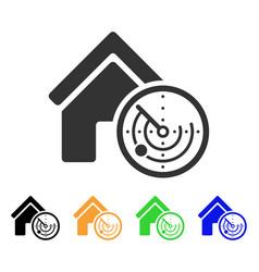 realty radar icon vector image