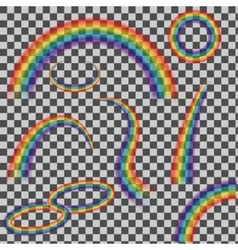 set of rainbows vector image vector image