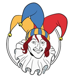 Jester face vector image vector image
