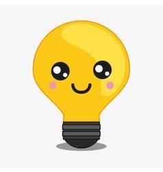 Light bulb icon kawaii and technology vector