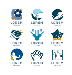 Sport logo set vector