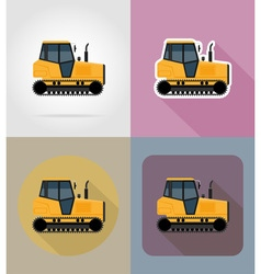 transport flat icons 32 vector image