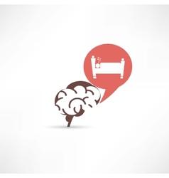 Update brain cells sleeping icon vector image vector image