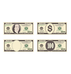 100 dollars banknote vector