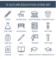 16 education icons vector