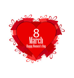 8 march day international womens day hearts vector