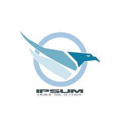 abstract blue hawk vector image