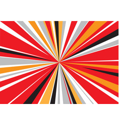 abstract red yellow black gray zoom speed vector image